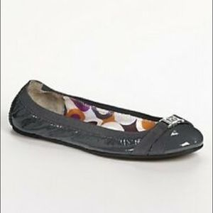 Cute Coach Dwyer Patent Leather Ballet Flat